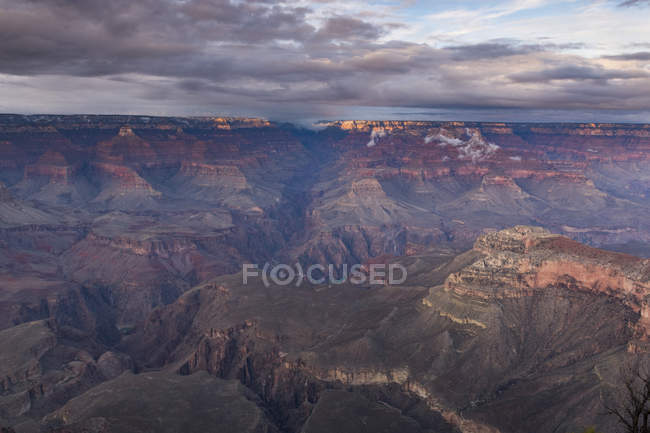 Sunset over Grand Canyon South Rim, Arizona, United States of America, North America — стокове фото