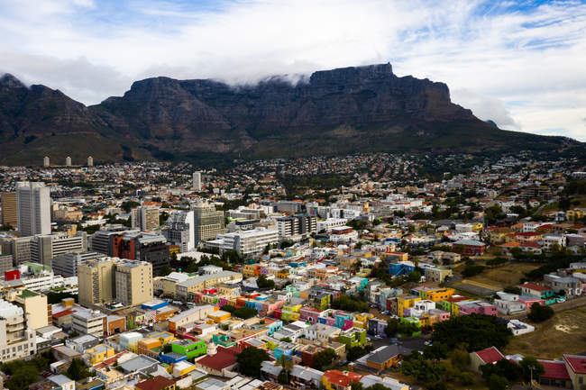 Colorful Bo-Kaap district, Signal Hill, Cape Town, South Africa, Africa — Stock Photo