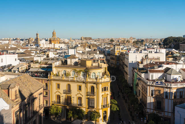 View of the historic center of Seville, Andalucia, Spain, Europe — стоковое фото