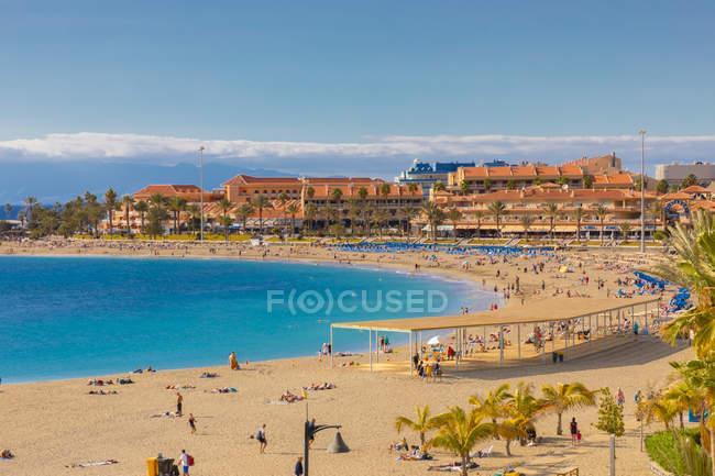Playa las vistas Beach, Los Cristianos, Tenerife, Ilhas Canárias, Espanha, Oceano Atlântico, Europa — Fotografia de Stock