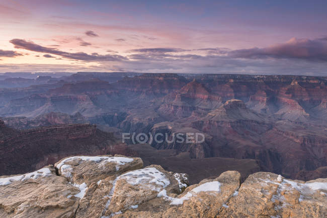 Sunset over Grand Canyon South Rim, Arizona, United States of America, North America — Stock Photo