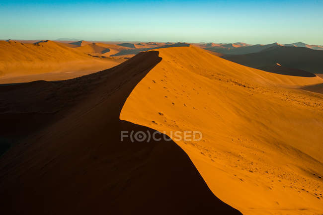 View of sand dunes in sunlight, Hardap, Namibia, Africa — стокове фото