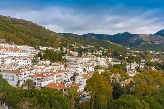 Historic old white village of Mijas, Andalucia, Spain, Europe — Stock Photo