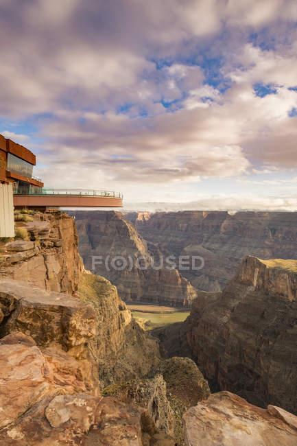 Plataforma de observação sobre o Grand Canyon e Rio Colorado, Arizona, Estados Unidos da América, América do Norte — Fotografia de Stock