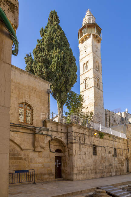 View of Mosque of Omar in Old City, Jerusalem, Israel, Middle East — Photo de stock