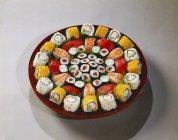 Assorted maki and nigiri sushi — Stock Photo