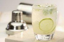 Mojito cocktail in glass — Stock Photo