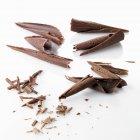 Dark chocolate and milk chocolate — Stock Photo