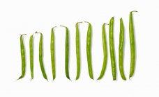 Свежая зеленая фасоль — стоковое фото