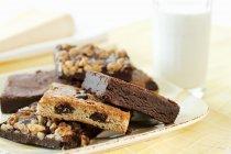 Домашнє смачний шоколад тістечка — стокове фото