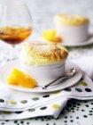 Оранжевый суфле с свежих апельсинов — стоковое фото