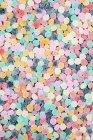 Vista superior dos doces mastigáveis coloridos — Fotografia de Stock