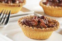Torta di noci Pecan individuali — Foto stock