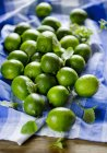 Limes and mint leaves — Stock Photo