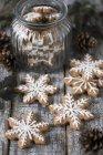 Pan de jengibre Copo de nieve Galletas - foto de stock