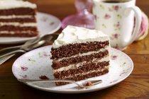 Morceau de gâteau rouge Denver — Photo de stock