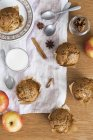 Apricot muffins on plate — Stock Photo