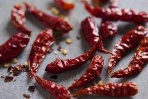 Chiles picantes extra secos - foto de stock