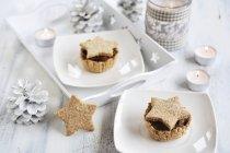Різдво гриб пироги — стокове фото