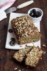 Mediterranean wholemeal bread — Stock Photo