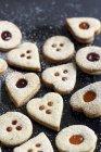 Biscotti Linz fatti in casa — Foto stock