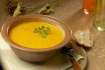 Sopa de calabaza y patata - foto de stock