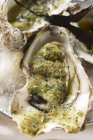 Gebackene Austern mit Kraut Paniermehl — Stockfoto