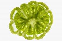 Fetta di pomodoro verde — Foto stock