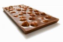 Бар гайки шоколада — стоковое фото