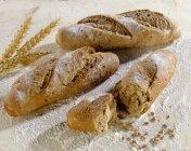 Baguettebrötchen mit Weizen — Stockfoto