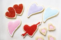 Galletas en forma de corazón - foto de stock