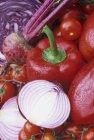 Червоний перець і помідори — стокове фото