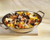 Іспанська Паелья блюдо — стокове фото