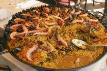 Piatto spagnolo paella — Foto stock