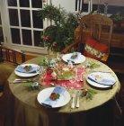 Tabella decorata festiva di Natale — Foto stock