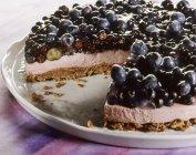 Torta allo yogurt di mirtillo — Foto stock