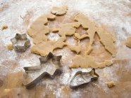 Detailansicht der Plätzchenteig mit Biskuit Fräser — Stockfoto