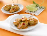 Caramelised chicken with lime — Stock Photo