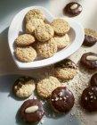 Шоколад ближнего и покрытием овсяные печенья — стоковое фото