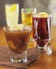 Assorted winter drinks — Stock Photo