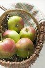 Cinque mele fresche — Foto stock