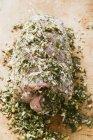 Rollo de cerdo cruda - foto de stock