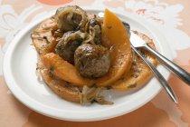 Polpette con zucca al forno — Foto stock