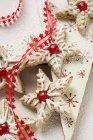 Stelle alla cannella con le ciliege — Foto stock