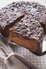 Crumble di cioccolato Cheesecake — Foto stock