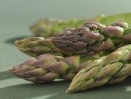 Green asparagus tips — Stock Photo
