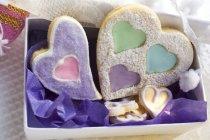 Формі серця печиво Різдвом — стокове фото