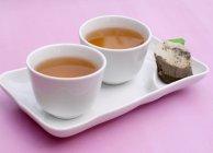Cups of green tea — Stock Photo