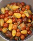 Салат з помідорів з базиліком — стокове фото