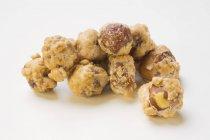 Baked sugared Macadamia nuts — Stock Photo